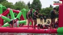 VIDEO. Saint-Cyr : avec l'Aquazone, la baignade est sportive