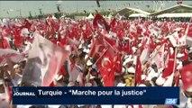 """""""Marche pour la justice"""" en Turquie: l'opposition réunit des dizaines de milliers de personnes"""