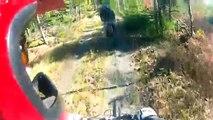 Deux cycliste victimes d'une chaîne au milieu d'un chemin de vélo populaire