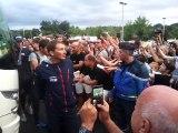 Arrivée des coureurs du Tour de France en Dordogne, avec Mickaël Delage