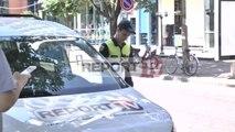 Report TV - Raportonin për vrasjen e Cukut policia gjobit makinat e televizioneve