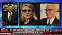 STEVE MARTIN DRIVES LIBERALS OVER THE EDGE WITH UN PC TRIBUTE TO CARRIE FISHER