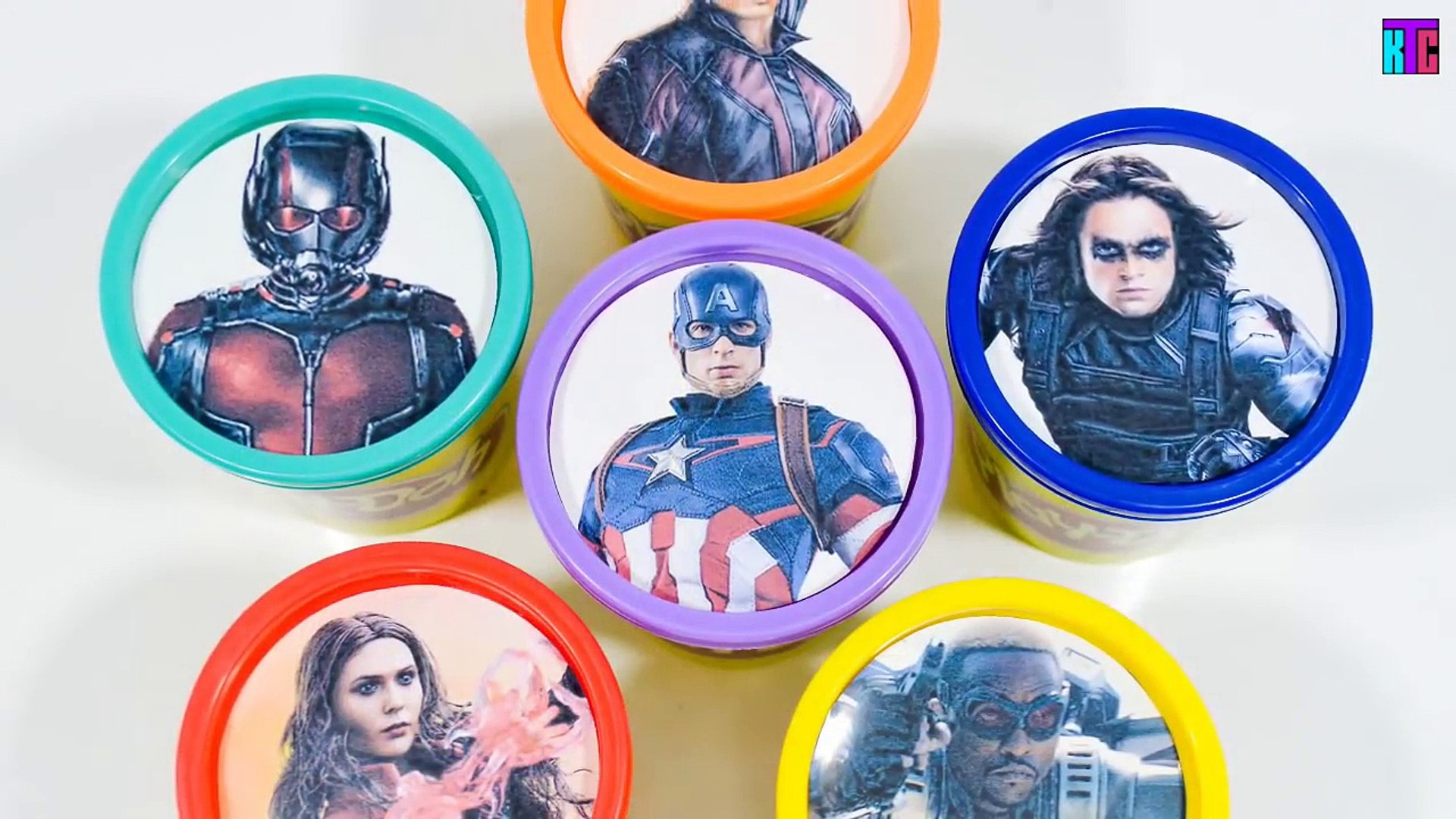 Marvels Captain America Civil: War Play Doh Cans Team Iron Man Learn Colors Marvel Toy Su
