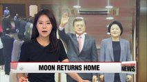 President Moon Jae-in returns home after the conclusion of G20 summit