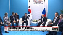 Moon discusses resolving North Korean nuclear issue and boosting economic cooperation with other leaders