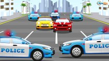 Cars Cartoon about Racing Cars & Sports Car Race with Police Car in the City | Cartoons for children