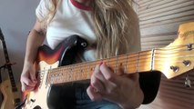 Stevie Ray Vaughan Scuttle Buttin guitar cover by Yana