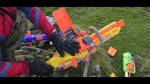 NERF GUN WAR: SNIPER SPIDERMAN vs Nerf Guns Mountain Adventure In BB Air Pellet Nerf Gun S