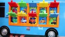 Autobus des œufs petit le le le le la jouet vers le haut en haut pop Tayo copains surprise surprise musicale enfant intelligent attraper un bus jouets disney