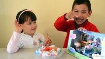 Salón de clases huevos huevos huevos Niños cerdo juego princesa sorpresa juguetes Peppa disney barbie thechildhood
