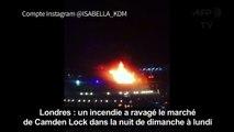 Londres: un incendie ravage le marché de Camden Lock