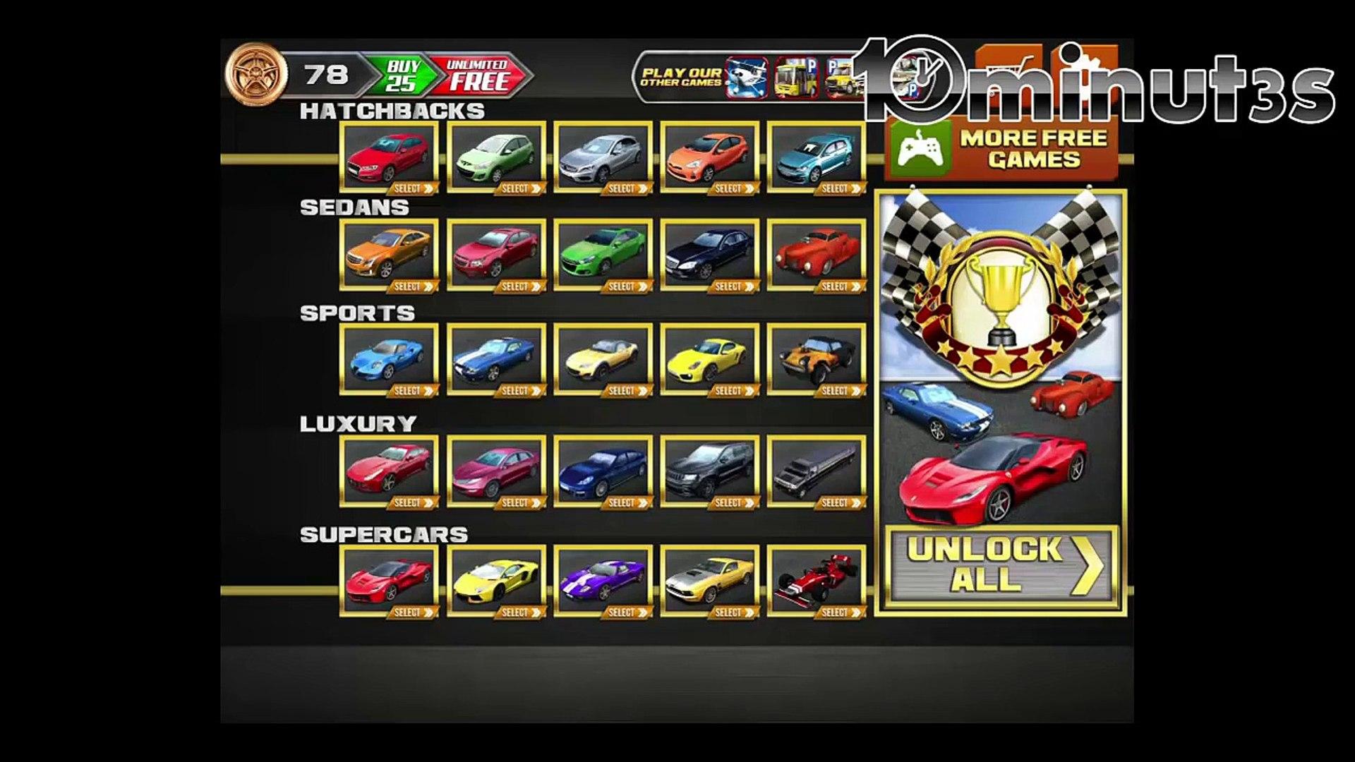 Легковые автомобили водить машину вождение бесплатно игра Игры ИОС стоянка гоночный реальная Сим ими