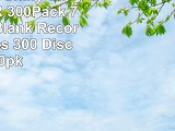 Smart Buy Shiny Silver Top CDR 300Pack 700mb 52x Blank Recordable Discs 300 Disc 300pk