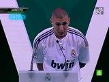 La présentation de Karim Benzema lors de son arrivée au Real Madrid