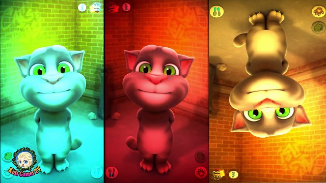 Baby Learn Colors with My Talking Tom Colours for Kids Animation Education Cartoons videos