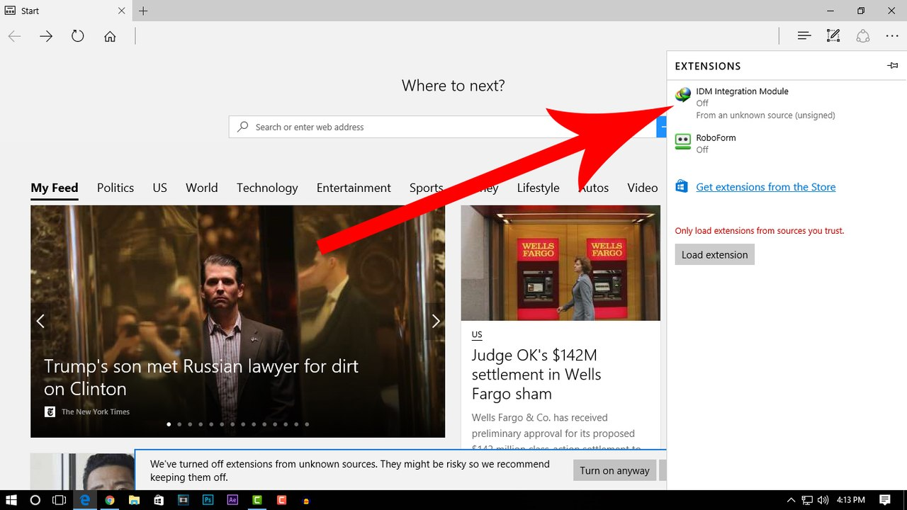 How to add IDM extension in Microsoft Edge