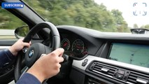 BMW M5 F10 vs Alfa Romeo Giulia Quadrifoglio AUTOBAHN Drive & Accelerations
