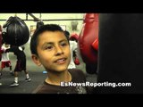 little pajarito when i grow up ill find out if ill become champ - EsNews Boxing