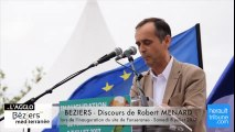 Discours de Robert MENARD lors de l'inauguration du site de Fonseranes le 8 juillet 2017