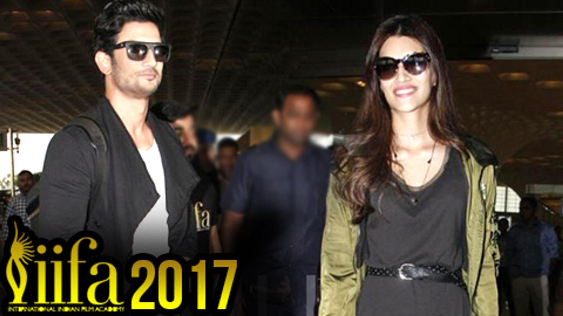 IIFA 2017 Sushant Singh Rajput And Kriti Sanon Off To New York