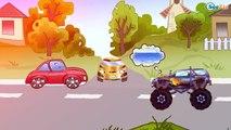✔ Monster Truck, Coches de carreras. Caricaturas de carros. Coches Para Niños. Tiki Taki Coches