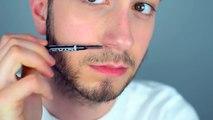Barbe maquillage remplir dans tutoriel pour inégal barbes