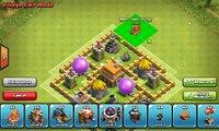 Base de choc la défense défensive mise en page niveau niveau de de stratégie trophée Clans townhall 5 th5 str