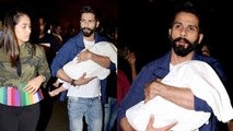 Shahid Kapoor Leaves For IIFA 2017 With Wife Mira & Daughter Misha