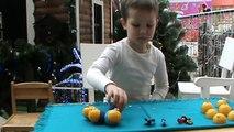 Domestiques jouets avec миньоны яйца сюрпризом открываем oeufs avec des jouets surprise ouvertes