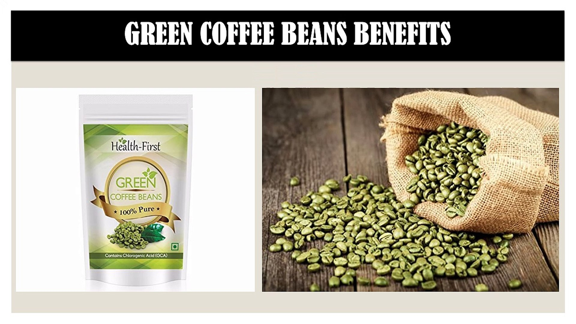 Weight Loss Health Product Green Coffee Beans Online Video