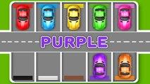 Voiture enfants les couleurs pour Apprendre rue jouets Véhicules vidéos avec parking