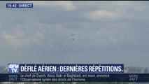 Défilé aérien: dernières répétitions au-dessus des Champs-Elysées avant le 14 juillet