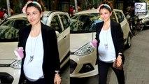 Pregnant Soha Ali Khan Walks The Mumbai Streets