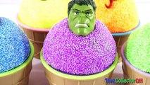 Les couleurs des œufs la famille doigt mousse pour enfants Apprendre garderie rimes chansons super-héros Surprise surp