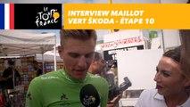 L'interview du maillot vert ŠKODA - Étape 10 - Tour de France 2017