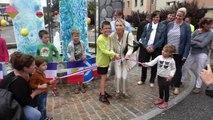 Hautes-Alpes : le rond-point de la gare d'Embrun aménagé par les enfants pour le Tour de France
