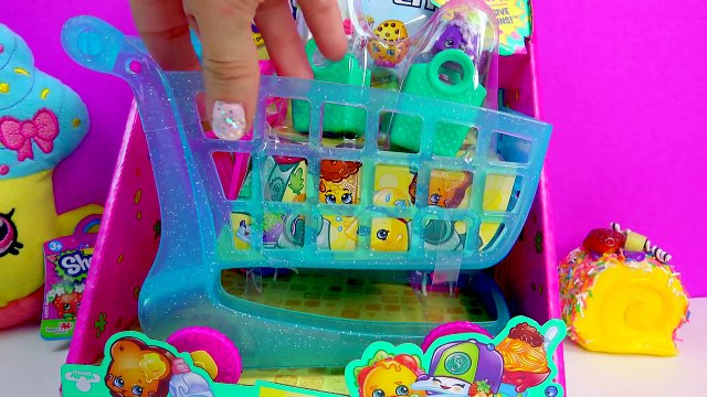Limited Edition Cupcake Queen Plush Shopkins Season 3 LARGE SHOPPING CART Blind Bag Surpri