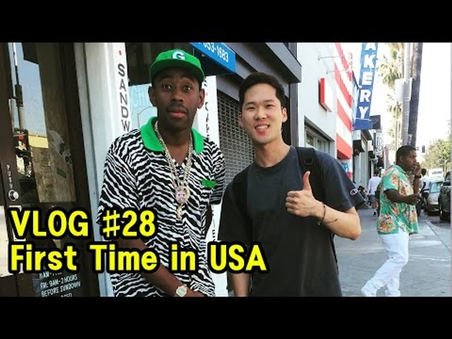 [JK VLOG] First Time in USA - LA - Vidcon  [Korean Bros]