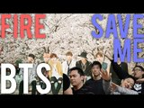 BTS | SAVE ME x FIRE Live stages [4LadsReact]