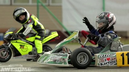 two year old motor cycle racer