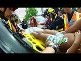 Avec les pompiers de Mantes-la-Jolie