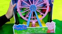 Gros parc porc thème roue Peppa grande roue parc dattractions nickelode dela fortune