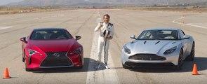 VÍDEO: ¡Duelo en pista! Lexus LC 500 contra Aston Martin DB11