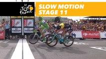 L'arrivée au ralenti / Finish in slow motion - Étape 11 / Stage 11 - Tour de France 2017
