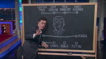Colbert Apologizes to Eric Trump, Maps Out Donald Trump Jr.'s Future on Chalkboard | THR News