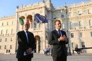 Déclaration d'Emmanuel Macron le mercredi 12 juillet 2017 lors du sommet des balkans occidentaux à Trieste.