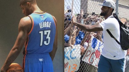 Paul George Lands in OKC for the First Time as a Thunder Player, Greets Fans