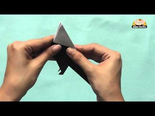 Origami in Marathi - Let's learn to make a Bird