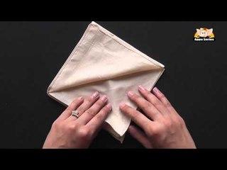 Learn the Diamond Napkin Fold in Marathi