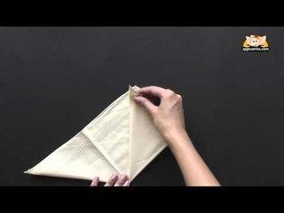 Fold a Pyramid Napkin in Marathi